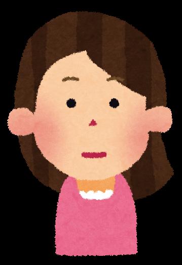 普通の顔の女性