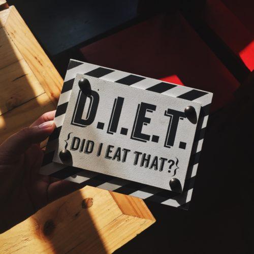 ダイエットのプレート