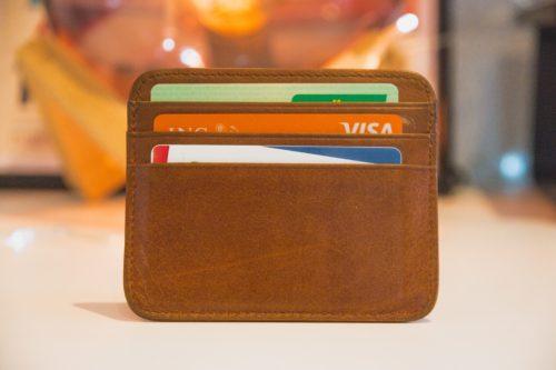 茶色い財布の写真